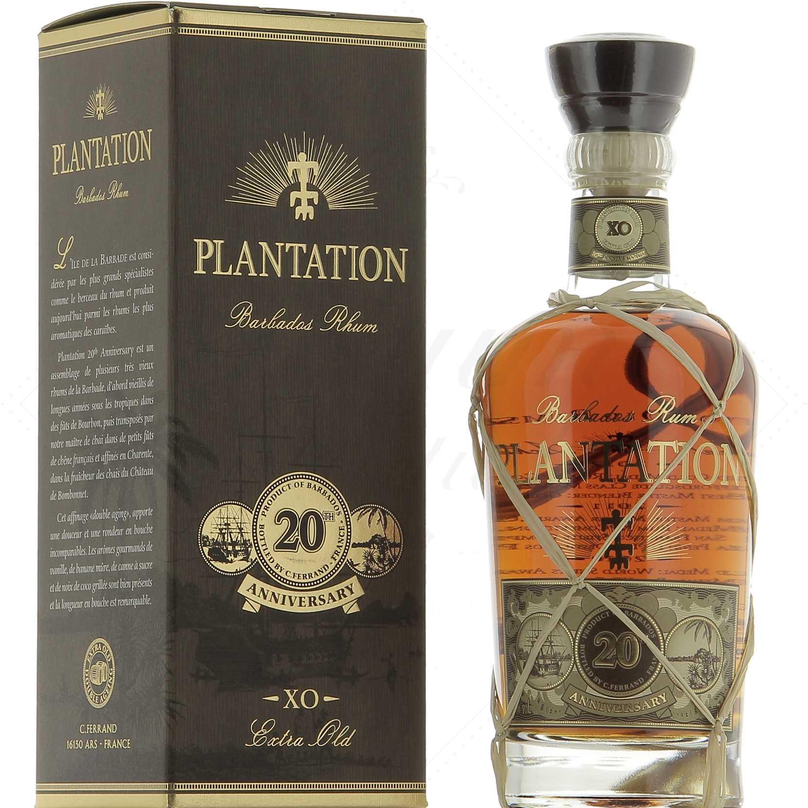 Plantation Rum Barbados XO 20th Anniversary 40° - Rhum ...