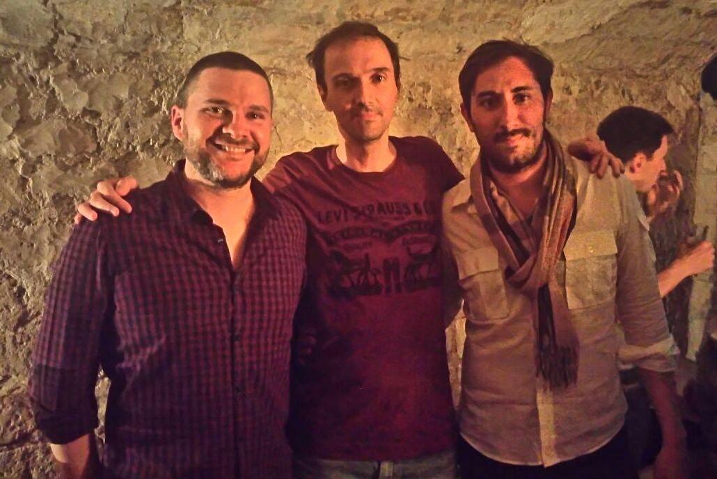 La fine équipe : de gauche à droite Laurent, Olivier et Corentin